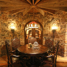 Traditional Wine Cellar by Charles Cudd De Novo, LLC