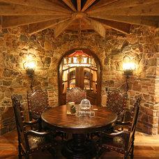 Traditional Wine Cellar by Charles Cudd De Novo, LLC