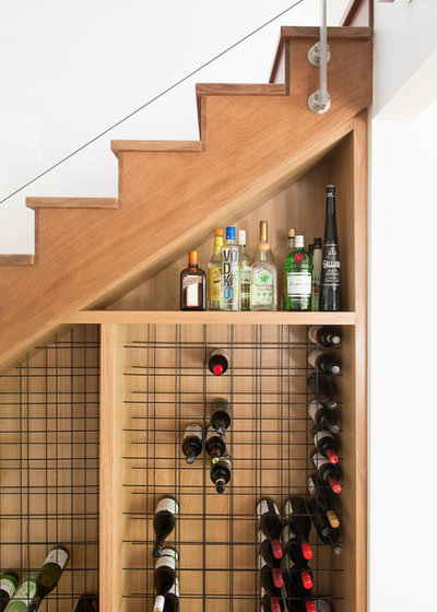 Contemporary Wine Cellar by zooi design