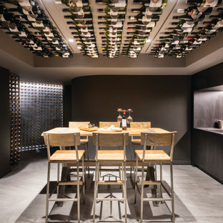 This is an example of a contemporary wine cellar in Perth.