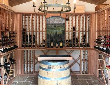 Outdoor Wine Cave / Interior of Wine Cave