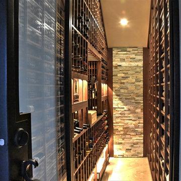 Pacific Palisades Los Angeles Walk in Custom Wine Cellar Wine Room Modern