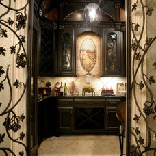Traditional Wine Cellar by Two Dream Interiors, LLC