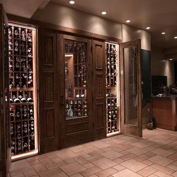 Pamplemousse Grille Del Mar San Diego Custom Wine Cellar Wine Cellar Design