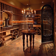 Traditional Wine Cellar by Schultz Development Corp
