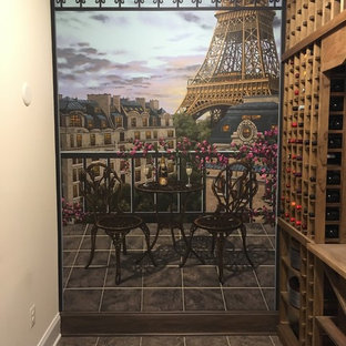 Inspiration for a midcentury wine cellar in Baltimore.