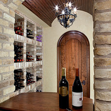 Traditional Wine Cellar by Details Interiors, LLC