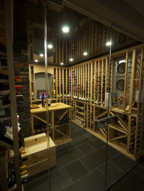 Modern wine cellar design ideas renovations photos with for Wine cellar in floor