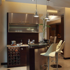 Modern Wine Cellar by D&L wall design and painting corp