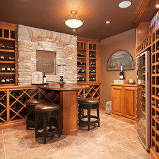 Traditional Wine Cellar by College City Design Build