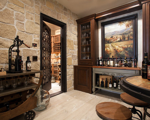 Wine Cellar Design Ideas wine cellar view in gallery horizontal wooden racks make for a cool addition Inspiration For A Timeless Wine Cellar Remodel In Orange County With Light Hardwood Floors And Display