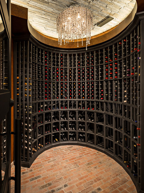 Transitional Wine Cellar Design Ideas Remodels Photos