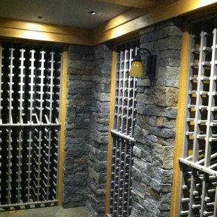 Pine Wood Wine Racks With a Gray Wash