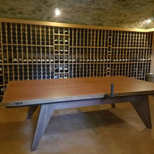 Ping Pong Table In A Wine Cellar