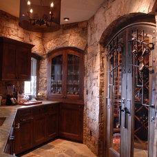 Traditional Wine Cellar by Rockridge Building Company