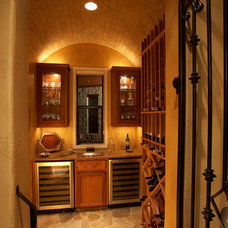 Traditional Wine Cellar by Sterling Custom Homes