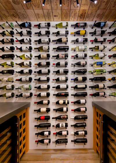Transitional Wine Cellar by VintageView