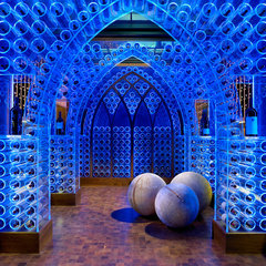 modern wine cellar by Beckwith Interiors