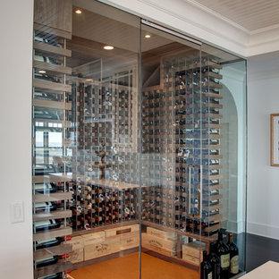 Inspiration för maritima vinkällare, med korkgolv