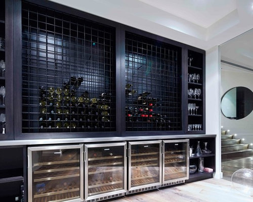 Built in wine rack houzz for Wine rack built in