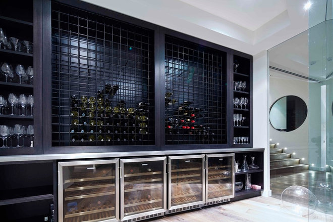 Contemporary Wine Cellar by MILAN cabinetmakers