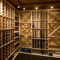 modern wine cellar by Lucy Interior Design