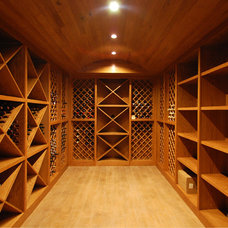 Traditional Wine Cellar by Linden Group Architects