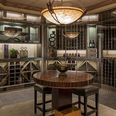 Transitional Wine Cellar by McNeil Company Builders