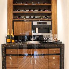 Contemporary Wine Cellar by Bluemar Marble