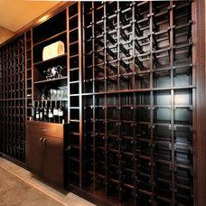 Traditional Wine Cellar by Greystokes Millwork Ltd.