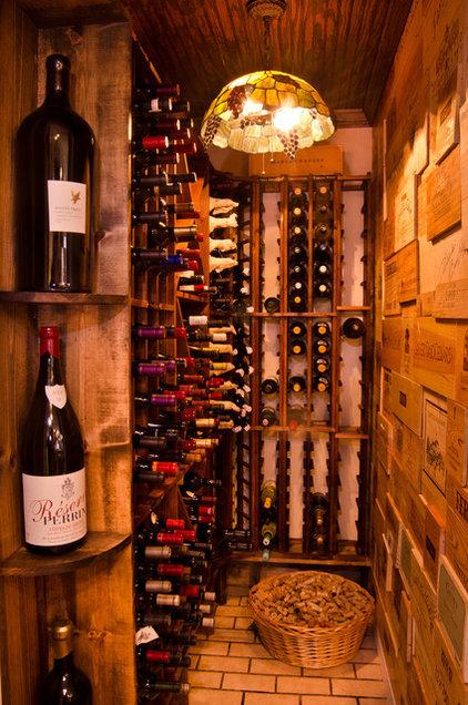 Traditional Wine Cellar by Ami Austin Interior Design