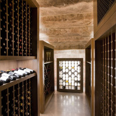 Modern Wine Cellar by David Howell Design