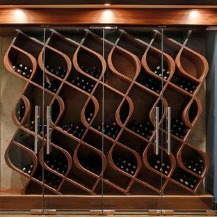'Q-Curve' Wine Wall - Custom Wine Racking by Genuwine Cellars