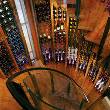 Eclectic Wine Cellar by Carney Logan Burke Architects