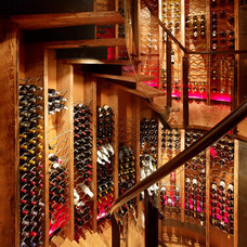 Rustic Wine Cellar by Carney Logan Burke Architects