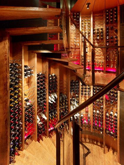 Rustic Wine Cellar by Carney Logan Burke Architects
