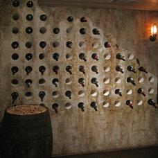 Rustic Wine Cellar by Kass Wilson/ WallsTreat Studio