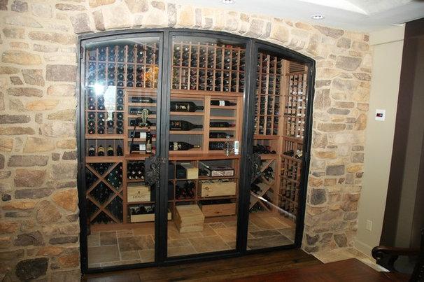 Traditional Wine Cellar by Vintage Cellars