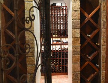 Rancho Santa Fe Custom Wine Cellar Traditional Wine Room San Diego Rustic Home
