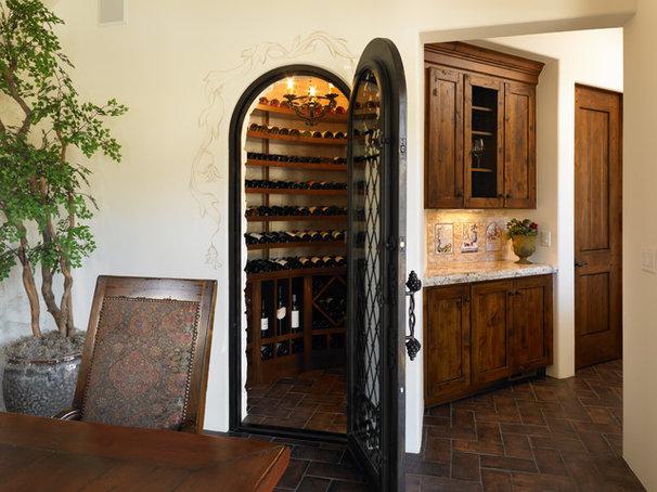 Mediterranean Wine Cellar by BKC Kitchen and Bath