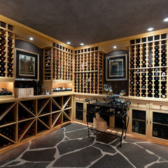traditional wine cellar by blurrdMEDIA
