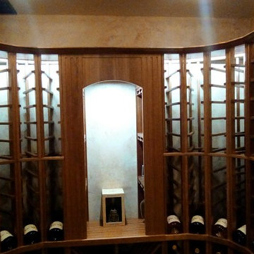 Recently Completed Residential Wine Cellar Build in Virginia