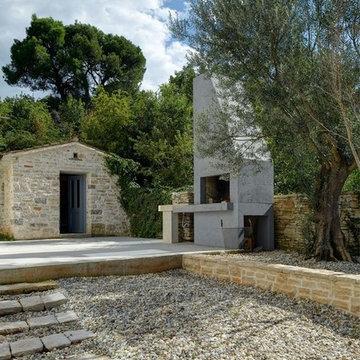 Reconstruction of old stone villa