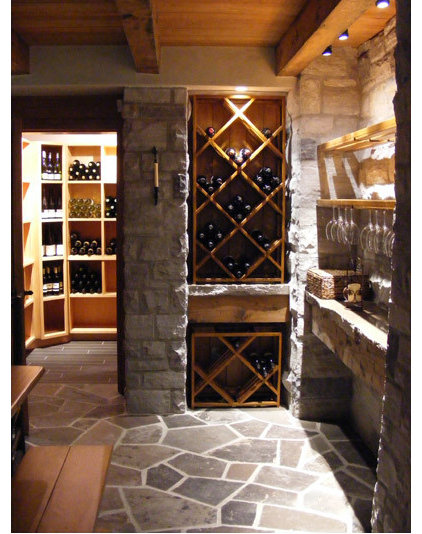 traditional wine cellar by Red Ridge Wine Cellars