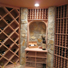 contemporary wine cellar by John Fabian