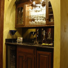 Traditional Wine Cellar by JB Interiors, Inc.