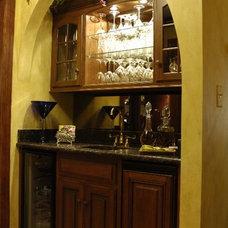Traditional Wine Cellar by JB Interiors, Inc.