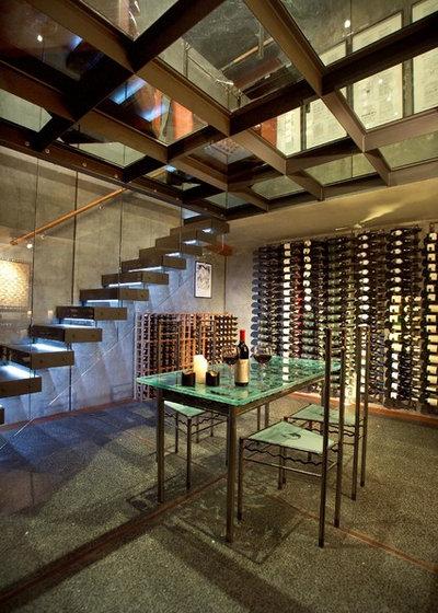 Industrial Wine Cellar by michael wyatt architect ltd