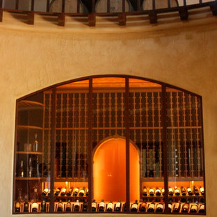 Photo of a large country wine cellar in Phoenix with storage racks.