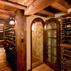 Eclectic Wine Cellar by Renovisions, inc.